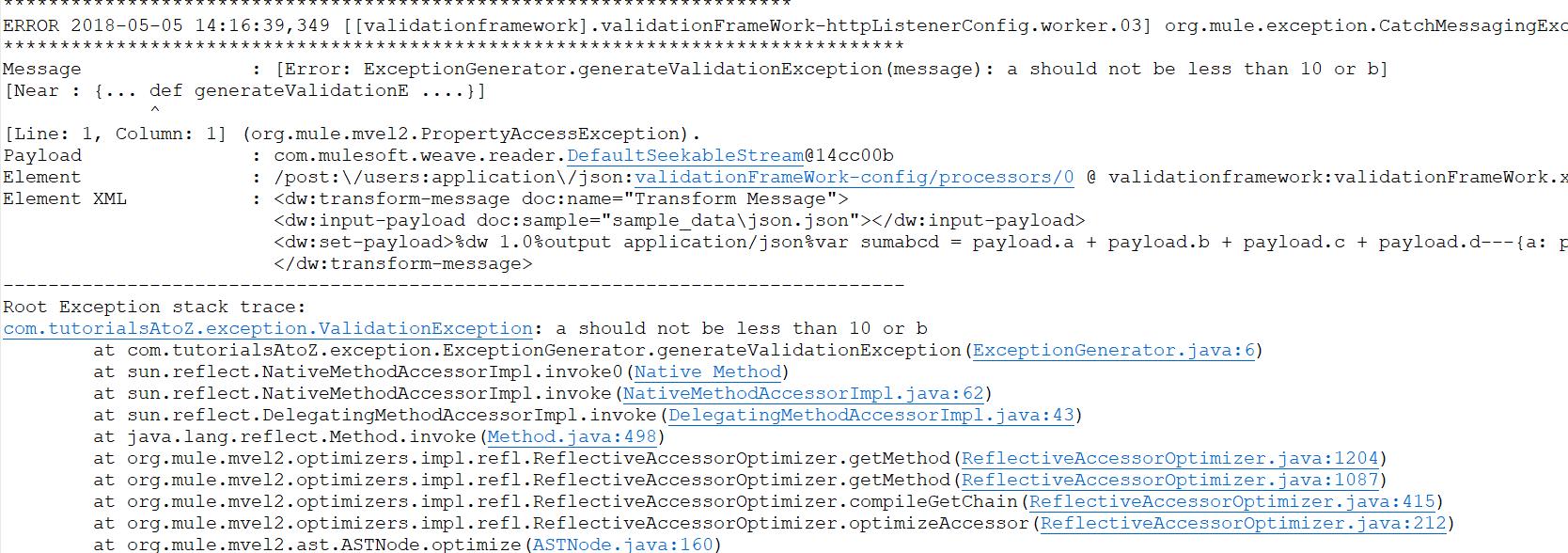 Validation Framework - Handling Business Errors MuleSoft